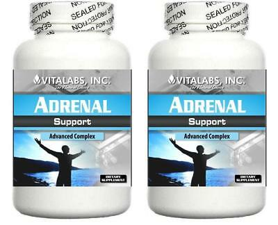 2 Adrenal Support Formula Fatigue Energy Stress Cortisol Exhaustion Tired Sleep