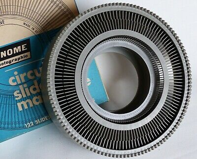 GNOME PHOTOGRAPHIC CIRCULAR SLIDE MAGAZINE - 122 35mm  SLIDES IN ONE SHOWING.