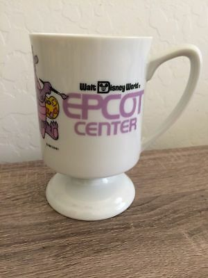 Walt Disney World 1982 Epcot Center Coffee Cup Mug Purple Figment Dragon