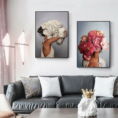 Nordic Abstracts Girl Art Canvas Painting Wall Prints Picture Poster Home Decor