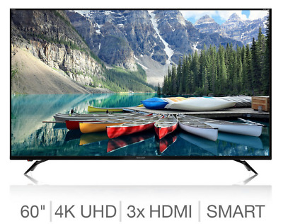 "Sharp Aquos LC-60UI9362K 60"" Smart 4K Ultra HD Thin LED TV, Freeview HD, Black"