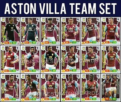 Panini Adrenalyn Xl Premier League 2019/20 Aston Villa Full 18 Card Team Set