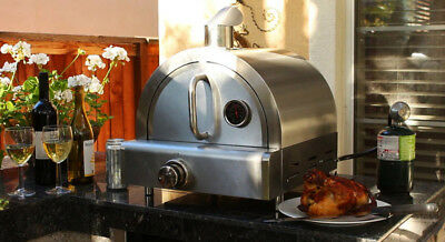Pizza Oven Portable Perfect Cooking Stainless Steel Burner Stone Included Gas
