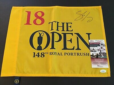 Shane Lowry Signed 148th Open British Championship 2019 Flag - JSA Certified!