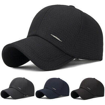Mens Gym Sports Strapback Adjustable Casual Sun Hats Outdoor Golf Baseball Caps