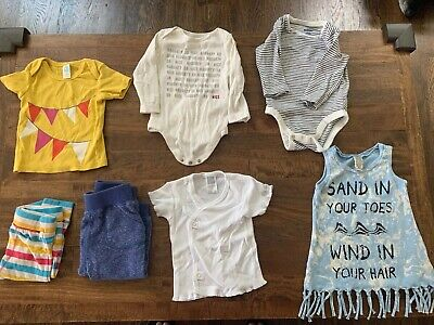Girls 6 Month Lot Of 7 Clothing Pants, Pajamas, Shirt, One Piece, Old Navy