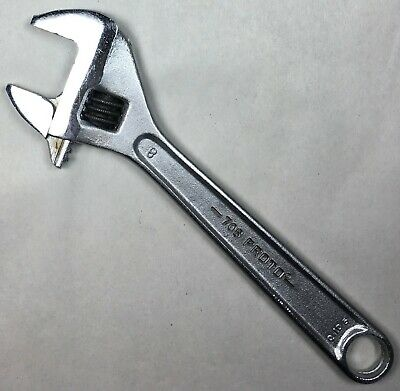 "Vintage 8"" PROTO Tools 708 Adjustable Crescent Wrench ""Q105"" MFD USA Proto Tools"