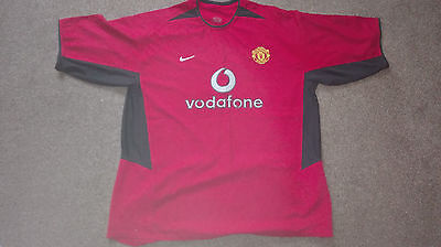 Manchester United XL Home Red Vodafone Nike Football Short Sleeve shirt  02/04