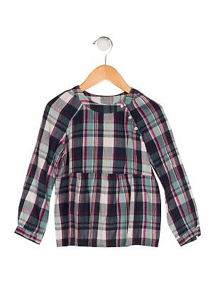 BONPOINT Girls' Plaid Check BLOUSE SIZE 4 YEARS