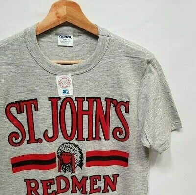 Starter St. John's Red Storm - VTG 80's USA College T-Shirt - Size XS / S - New