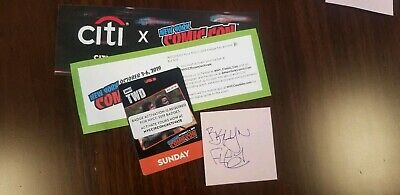 NYCC New York Comic Con 2019 Sunday Adult October 6th Pass Badge Ticket