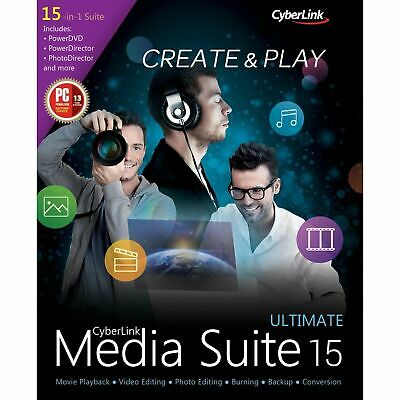 CyberLink Media Suite 15 Ultimate - Award-Winning Multimedia Software - Download