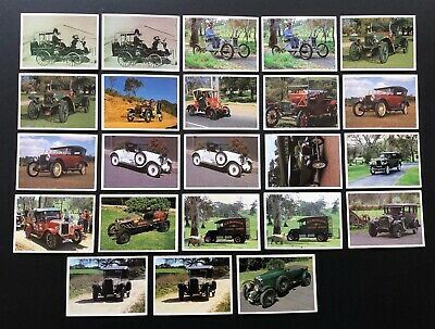 Vintage THE CARS THAT MADE AUSTRALIA TRADING CARDS - 23 CARDS