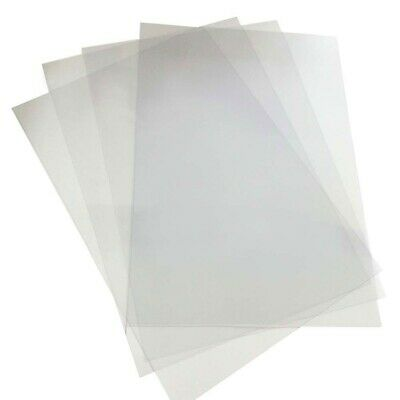 200 x A4 CLEAR PVC BINDING COVERS 0.20MM -new in pack **FREE POST**