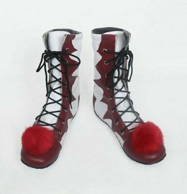 New Cosplay  It Pennywise Boots Carnival Clown Boots Halloween Shoes AU 2019!!