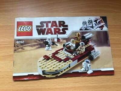 Lego Star Wars 8092 Instruction, Manual Only