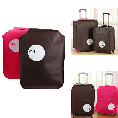 """20""""24""""28"""" Travel Suitcase Cover Anti Dust Non-Woven Pouch Luggage Protector Bag"""