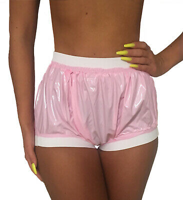 PVC Pull on Trousers Patent Look Diaper Pants Erotic Adult Baby Role Games Abdl