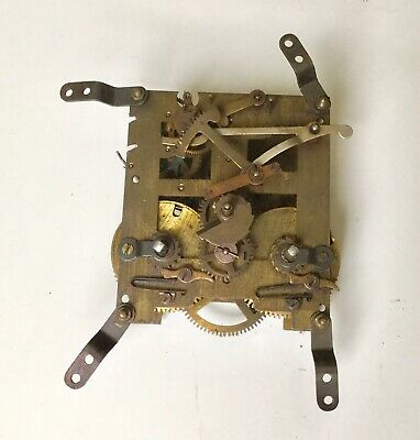 Vintage Brass Chime Clock Movement Made In England