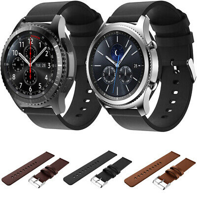 Replacement Real Leather Wristband Watch Band Strap For Samsung Gear S3 Classic+