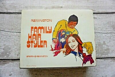 VINTAGE REMINGTON  FAMILY HAIR STYLER -Boxed 70s' Ideal Prop for Hairdresser