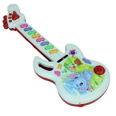 Kids Play Baby Acoustic Elephant Guitar Musical Instrument Baby Toy Gift Plastic