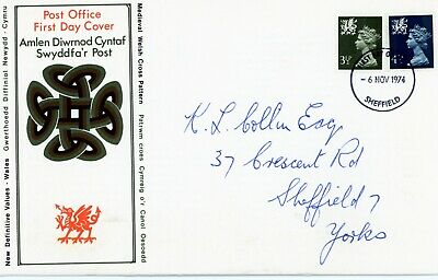 Gb 1974 Regional Definitive Issue - Wales. Royal Mail First Day Cover. (Fdc132)