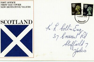 Gb 1974 Regional Definitive Issue - Scotland Royal Mail First Day Cover (Fdc133)