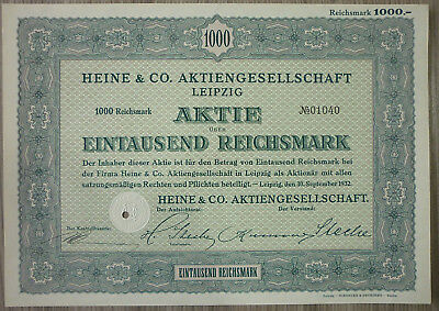 Compartir, Heine & Co. Ag ,Leipzig, 1932 (Art.3186)