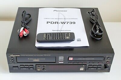 Pioneer PDR-W739 Compact Disc Player/Recorder with Remote Control and Manual