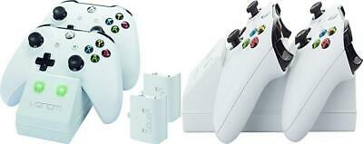 Venom Xbox One Twin Docking Station with 2 x Rechargeable Battery White
