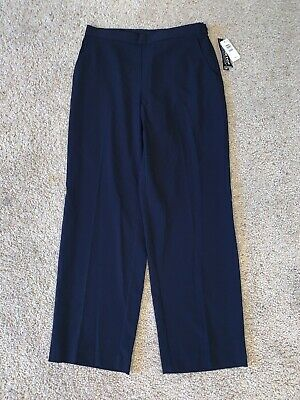 NWT Women's Briggs New York Blue Petite Dress Pants Size 12P Stretch