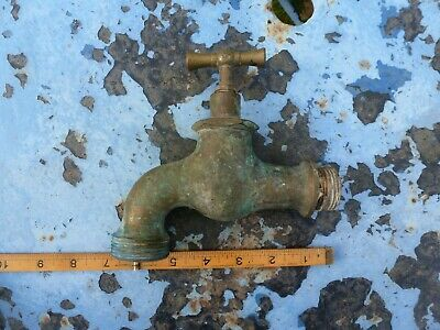 Vintage brass bronze tap garden sink basin stable bath