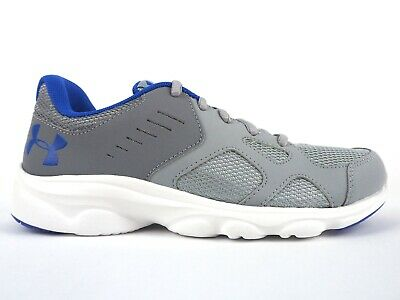 Junior Under Armour BGS Pace RN 1272292 100 Grey Lace Up Running Trainers