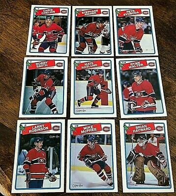 1988-89  O-Pee-Chee  MONTREAL CANADIENS 13  card team lot