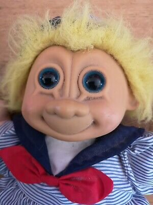 "Russ Troll Doll Soft Body Sailor Vintage 12"" Large"