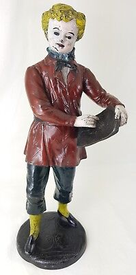 Antique French Painted Spelter Figure Of A Artist With Foundry Mark