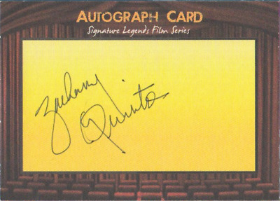 Zachary Quinto authentic signed autographed trading card COA