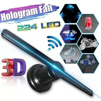 LED 3D Wifi Holographique Projecteur Hologramme Player Display Fan Lamp 16GB TF