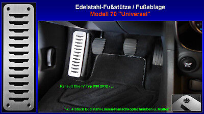 Fußstütze Pedal Renault Clio IV Typ X98 Life, LIMITED, Intens, INITIALE