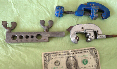 Vintage Tools - 2 Tube Cutters & Flaring Tool, Imperial Brass Chicago