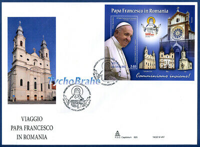 FDC JOURNEY POPE FRANCIS  ROMANIA VATICAN 2019 JOINT First Day Cover CAPITOLIUM