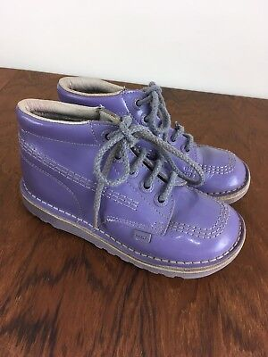 Patent Leather Lilac Purple KICKERS shoes size 31