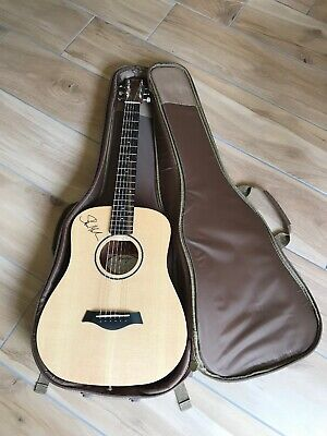Taylor Baby Acoustic Travel Guitar (BT1) signed by Shawn Mendes with a Case