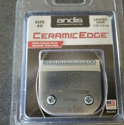 Andis Ceramic Edge #40! Carbon infused steel Blade!