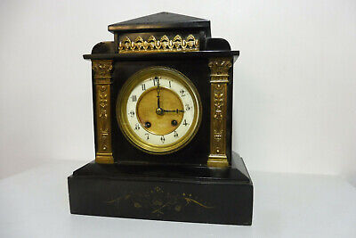 Antique Marble French Clock Old Table Clock Bracket Clock