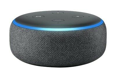 All-new Echo Dot (3rd Gen) - Smart speaker with Alexa - Charcoal Fabric * New.