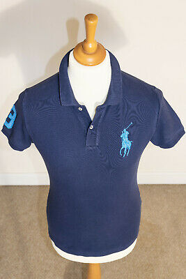 "Polo Ralph Lauren Mens Short Sleeve Big Pony ""The Skinny Polo"" Shirt Blue Small"