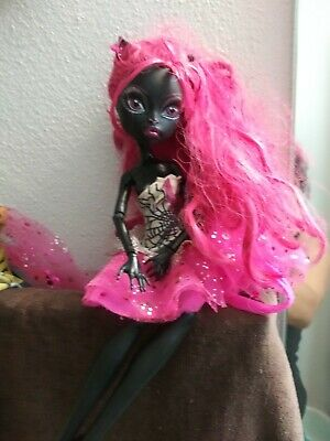 Monster High 13 Wishes Catty Noir Doll With Outfit No Shoes Black Cat Ears