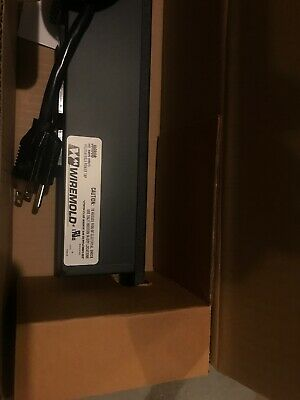 Wiremold J06B0B Rack Mounted Power Strip, 6-Outlets, Rating: 120VAC 15A 60Hz